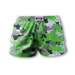 Dětské trenky Styx klasická guma zelený maskáč (J559)