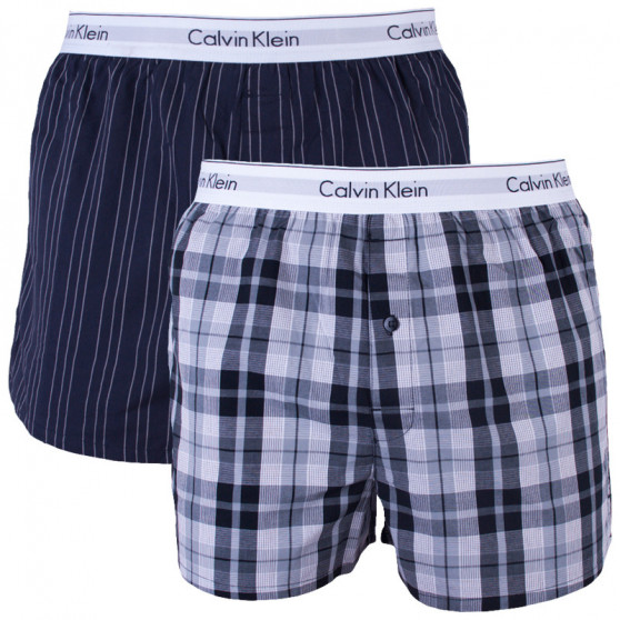 2PACK pánské trenky Calvin Klein vícebarevné (NB1396A-JKZ)
