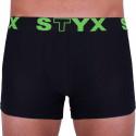 Pánské boxerky Styx sportovní guma nadrozměr černé (R962)