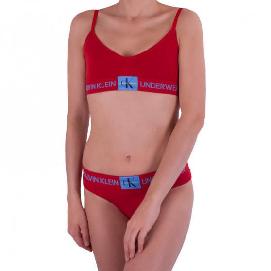 Dámská podprsenka Calvin Klein červená (QF4919E-RYM)