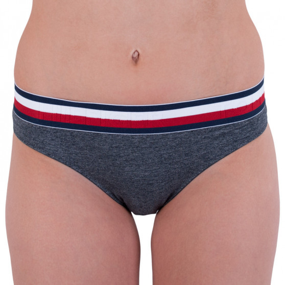 Dámské kalhotky Tommy Hilfiger šedé (UW0UW01067 091)