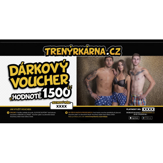 Elektronický voucher 1500,- (zaslání pouze e-mailem)