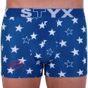 Pánské boxerky Styx art sportovní guma hvězdy (G658)