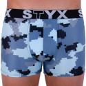 Pánské boxerky Styx art sportovní guma maskáč digital (G657)
