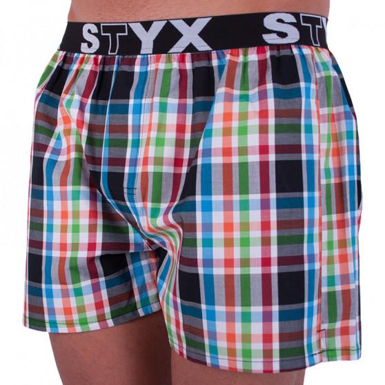 Pánské trenky Styx sportovní guma vícebarevné (B719)