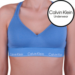 Dámská podprsenka Calvin Klein modrá (QF1654E-PWB)