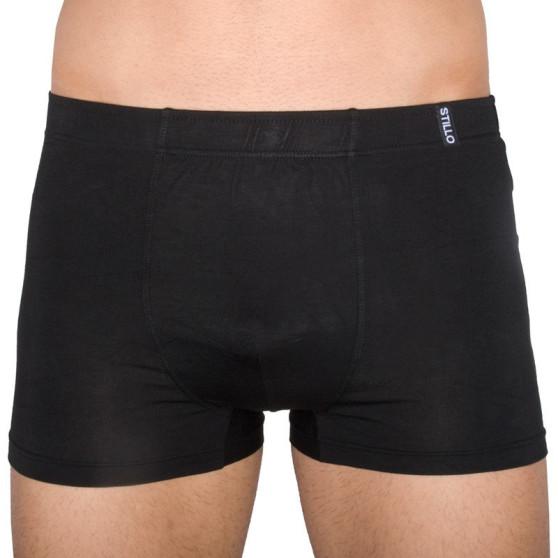 Pánské boxerky Stillo bambusové černé (STP-014)