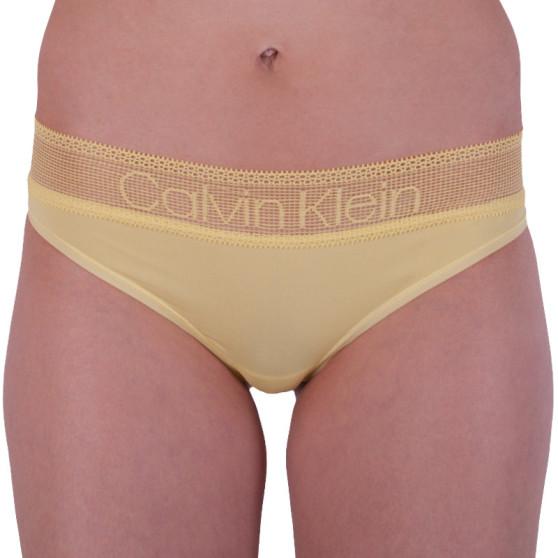 Dámské kalhotky brazilky Calvin Klein žluté (QD3698E-HZY)