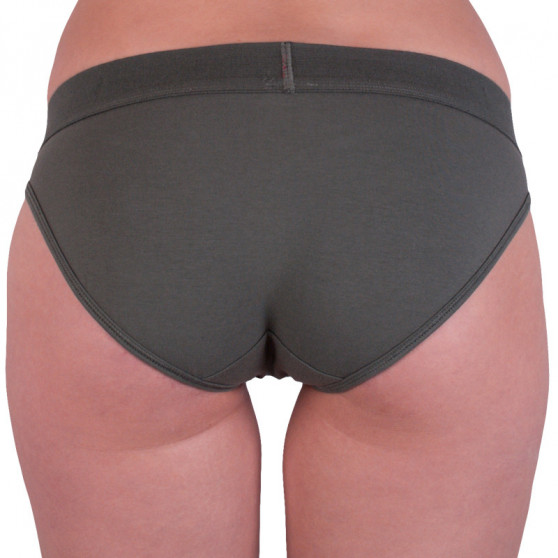 Dámské kalhotky Calvin Klein khaki (QF4921E-TBY)