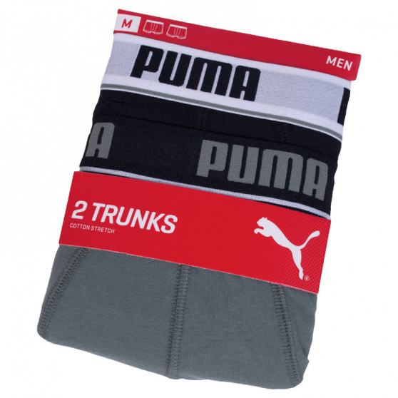 2PACK pánské boxerky Puma černé šedé (671012001 315)