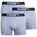 3PACK pánské boxerky Puma šedé (681030001 032)