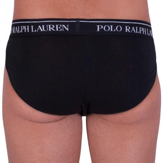 3PACK pánské slipy Ralph Lauren černé (714513423002)