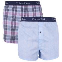 2PACK pánské trenky Calvin Klein slim fit vícebarevné (NB1544A-ZDS)