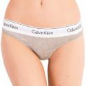 Dámská tanga Calvin Klein šedá (QF5117E-020)