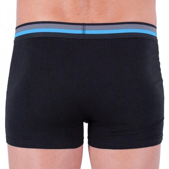 2PACK pánské boxerky Molvy černé (KP-024-BEU)