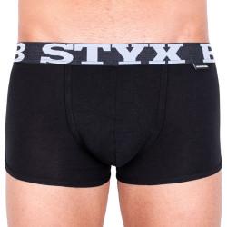 Pánské boxerky Styx  bambusové sportovní guma černé (V960)