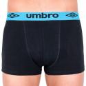 Pánské boxerky Umbro short černé s modrou gumou
