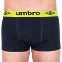 Pánské boxerky Umbro short černé se zelenou gumou