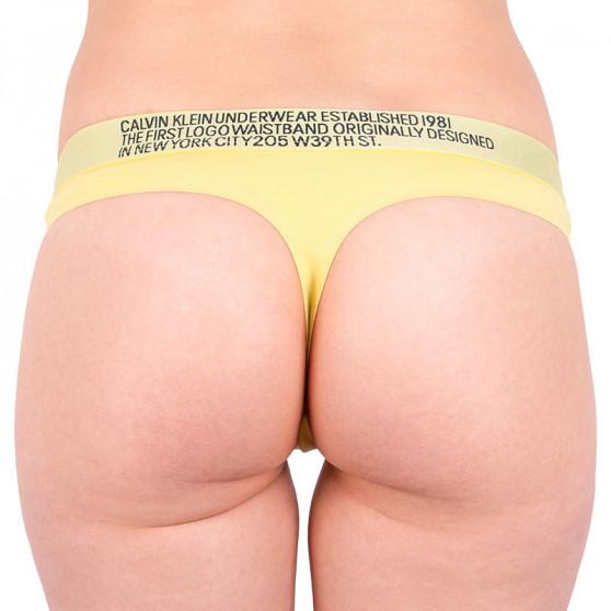 Dámská tanga Calvin Klein žlutá (QF5184E-HZY)
