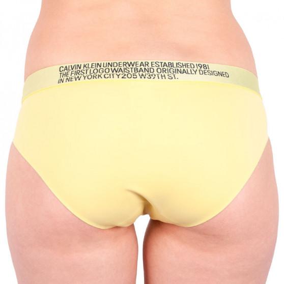 Dámské kalhotky Calvin Klein žluté (QF5183E-HZY)