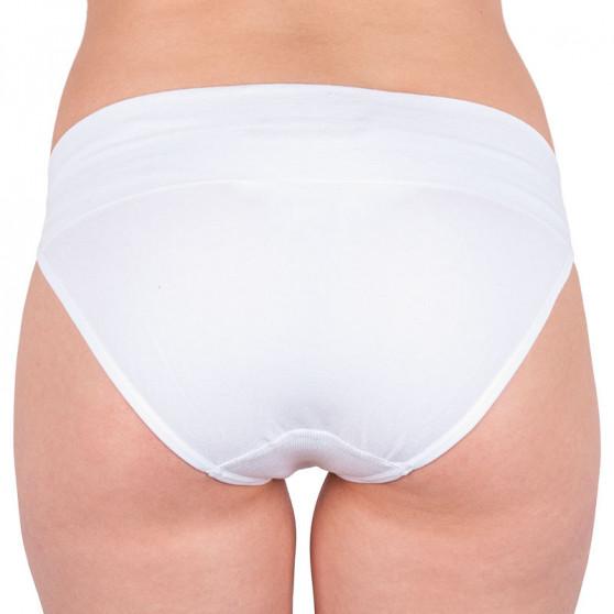 Dámské bambusové kalhotky Gina bílé s růžovým nápisem (00022)