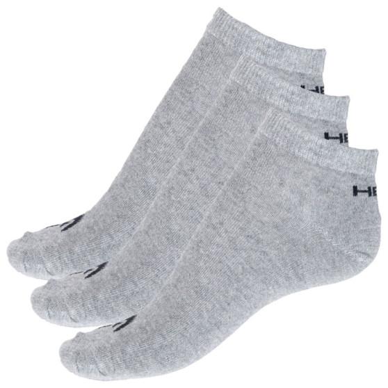 3PACK ponožky HEAD šedé (761010001 400)