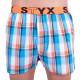 3PACK pánské trenky Styx sportovní guma vícebarevné (B6313940)