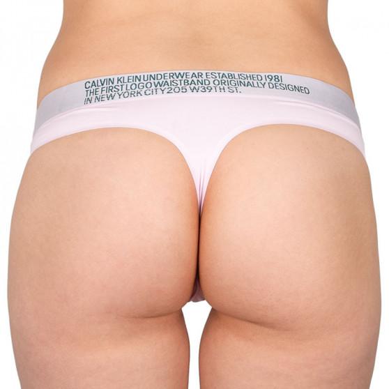 Dámská tanga Calvin Klein růžová (QF5184E-AUY)