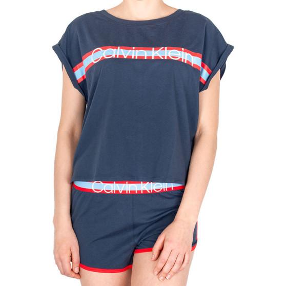 e0b00d77bb Dámské pyžamo Calvin Klein modré (QS6193E-5CX)