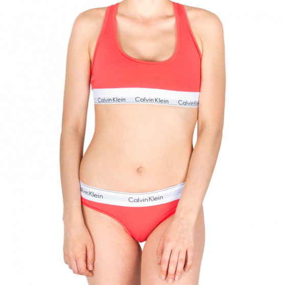 Dámské kalhotky Calvin Klein oranžové (F3787E-LFX)