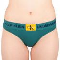 Dámská tanga Calvin Klein zelená (QF4920E-ZAY)