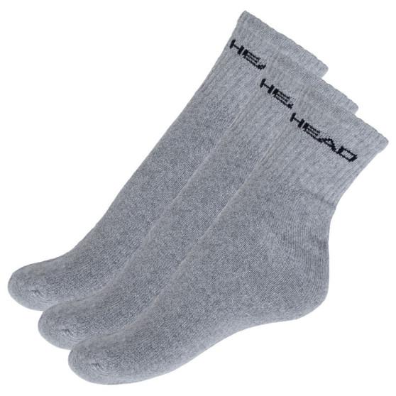 3PACK ponožky HEAD šedé (771026001 400)