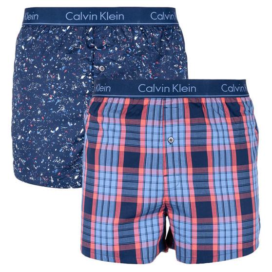 e4ab5c88bd 2PACK pánské trenky Calvin Klein slim fit vícebarevné (NB1544A-FBV)