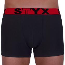 Pánské boxerky Styx sportovní guma černé (G964)