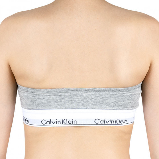 Dámská podprsenka Calvin Klein bandeau šedá (QF5295E-020)