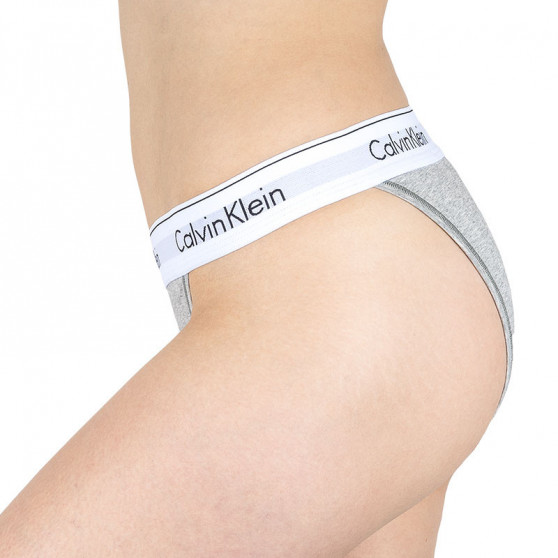 Dámské kalhotky Calvin Klein šedé (QF4977A-020)