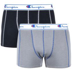 2PACK pánské boxerky Champion grey black (Y081T)
