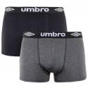2PACK pánské boxerky Umbro vícebarevné (UM1700K)