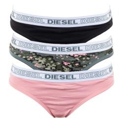 3PACK dámské tanga Diesel vícebarevná (00SEOK-0SAWC-E4815)