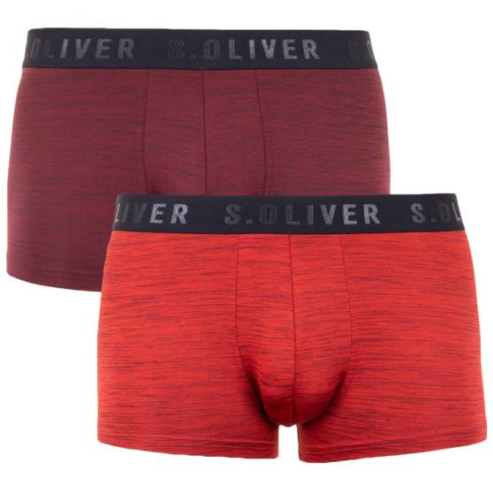2PACK pánské boxerky S.Oliver červené (26.899.97.4238.39W1)