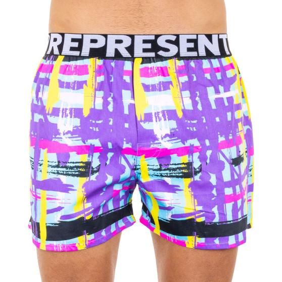 Pánské trenky Represent exclusive Mike modern art purple