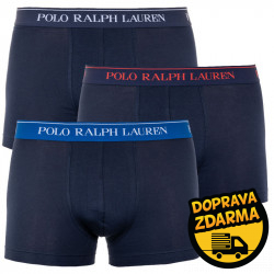3PACK pánské boxerky Ralph Lauren tmavě modré (714662050007a)
