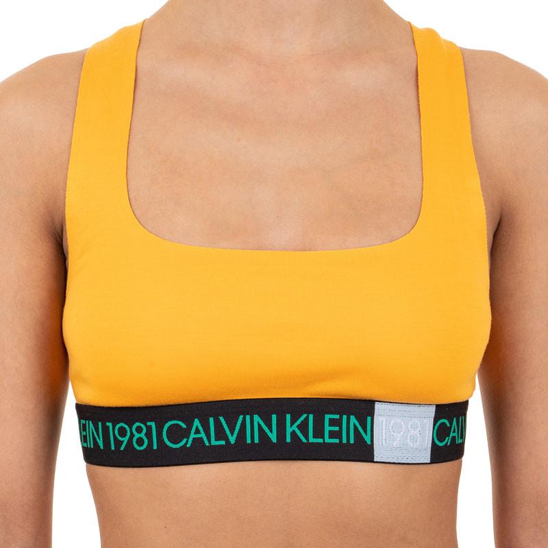 E-shop Dámská podprsenka Calvin Klein oranžová (QF5577E-1ZK)