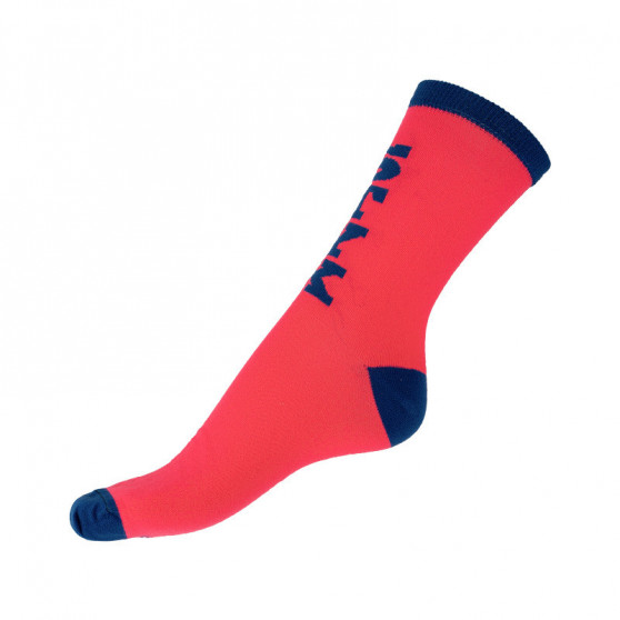 Ponožky Styx classic růžové s modrým nápisem (H300)