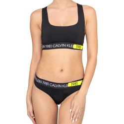 Dámský set tanga a podprsenka Calvin Klein černý (QF5667E-001)