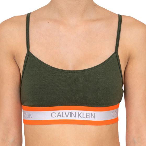 Dámská podprsenka Calvin Klein zelená (QF5459E-FDX)