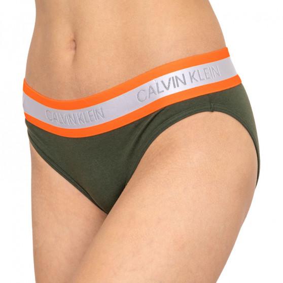 Dámské kalhotky Calvin Klein zelené (QF5460E-FDX)