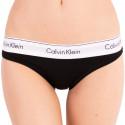 Dámské kalhotky Calvin Klein nadrozměr černá (QF5118E-001)