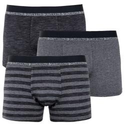 3PACK pánské bambusové boxerky CR7 šedé (8231-49-900)