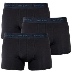 3PACK pánské bambusové boxerky CR7 černé (8230-49-400)